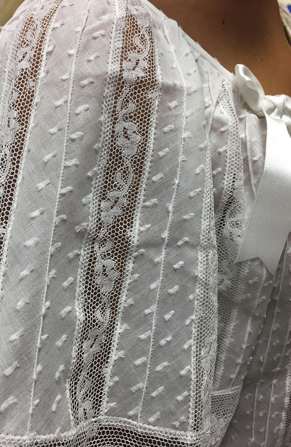 Camicia da notte in plumetis Anna Raggi