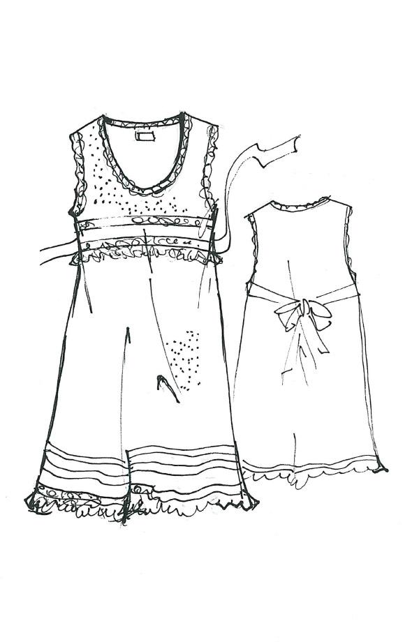 Camicia da notte in plumetis Gioia