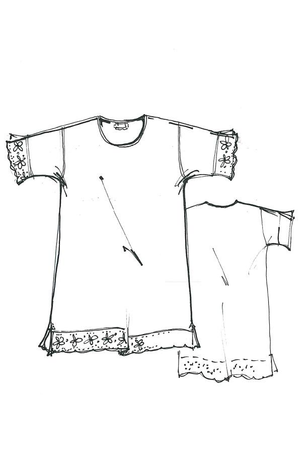 Camicia da notte manica corta Elena