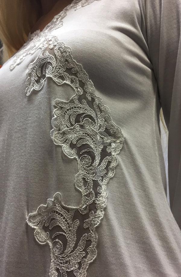 Camicia da notte manica lunga Laureen