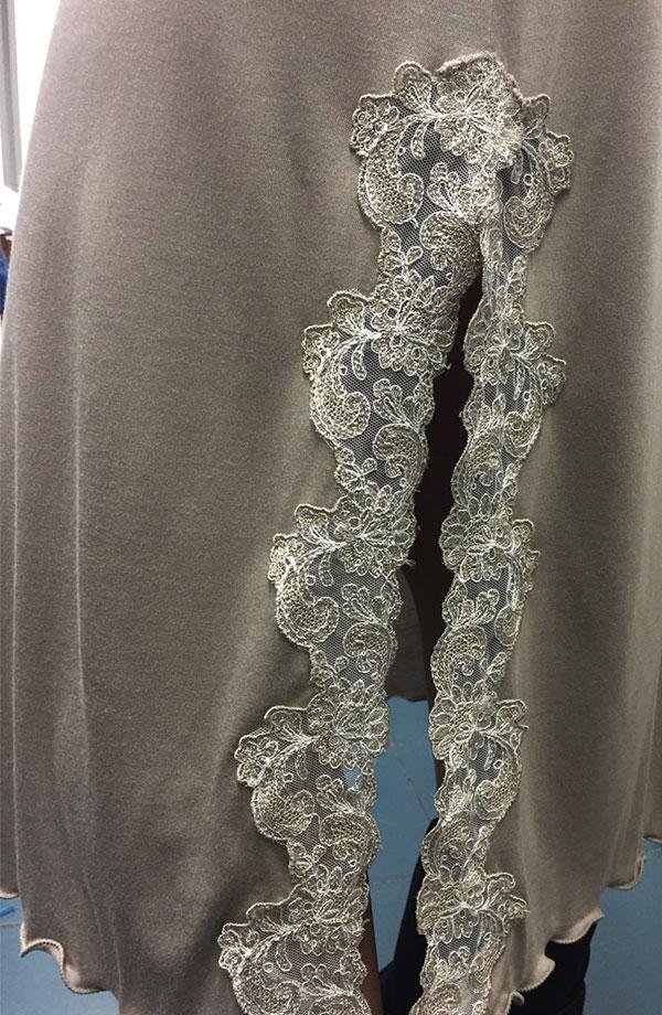 Camicia da notte senza manica Leda