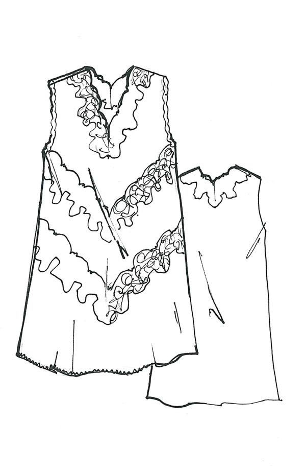 Camicia da notte spalla larga Rosella