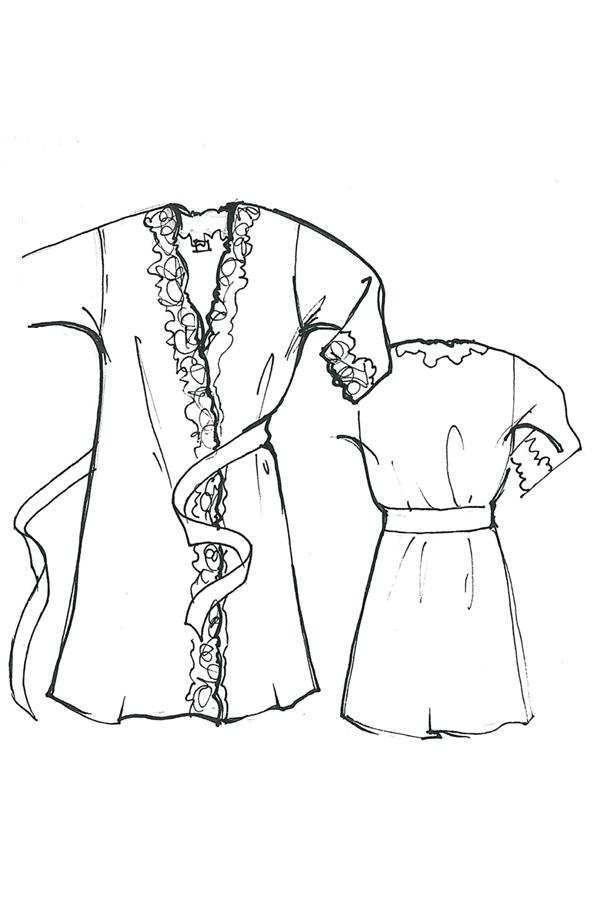 Veste kimono con pizzo Chiara