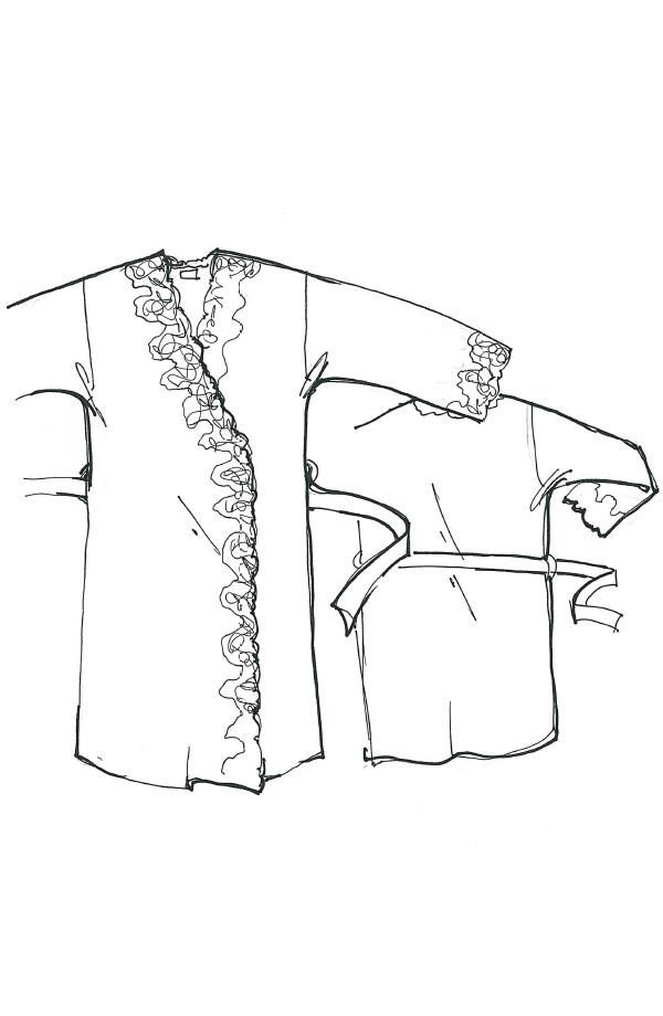 Veste kimono in felpa punto Milano