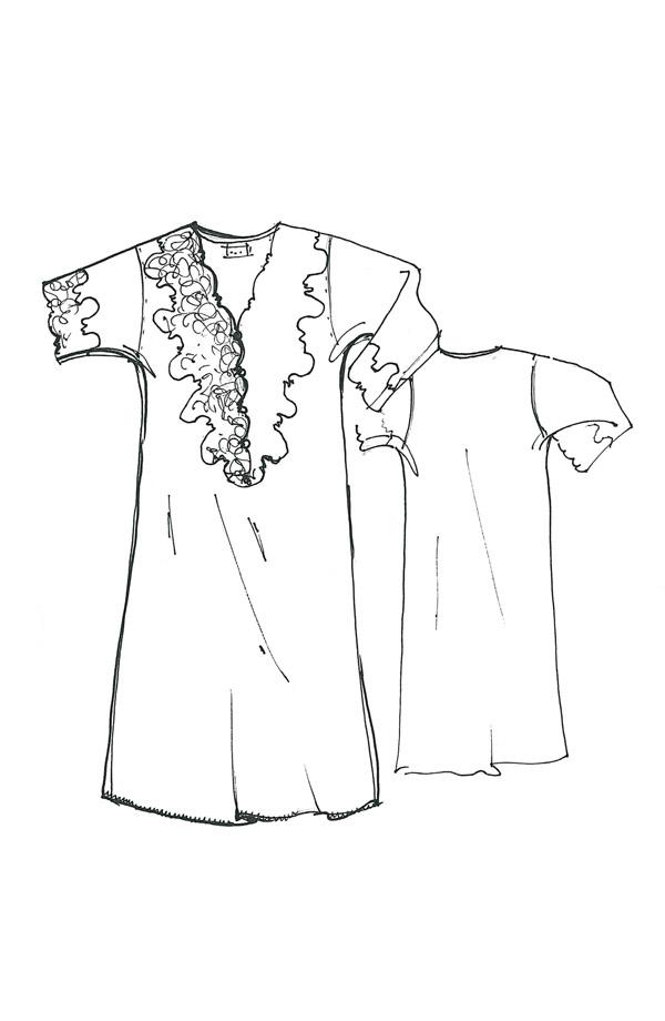 Camicia da notte Monì